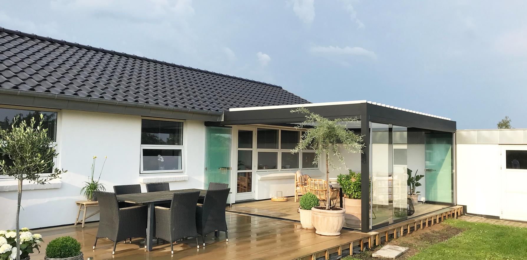 pergola og terrasse