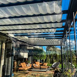 terrasseoverdækning med glas